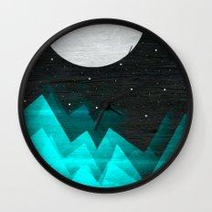 Night Waves Wall Clock
