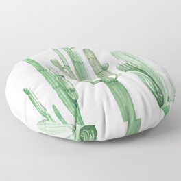 Three Amigos White + Green by Nature Magick Floor Pillow