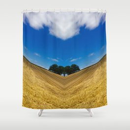 Acute Harvesting Shower Curtain