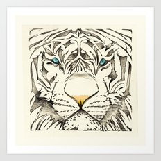 The White Tiger Art Print