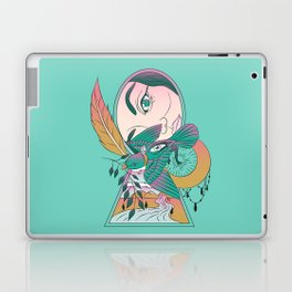 Lock and Key Surreal Bird Art Laptop & iPad Skin