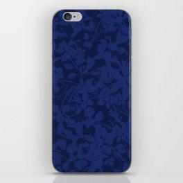 Blue on Blue - Broken but Flourishing Botanical Pattern iPhone Skin