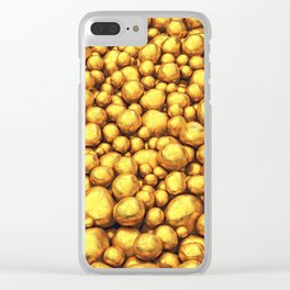 Raw gold Clear iPhone Case
