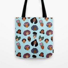 Black Hair Magic - Blue Tote Bag