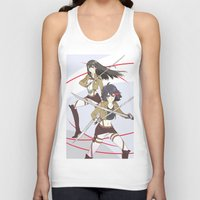 kill la kill Tank Tops featuring Kill la Titans by TEAM JUSTICE ink.