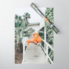 Flamingo Beach House #photography #digitalart Wrapping Paper