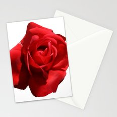 Red Rose Isolated Stationery Cards
