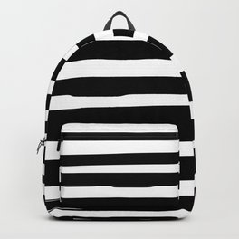 Black and White Stripes Abstract Modern Backpack