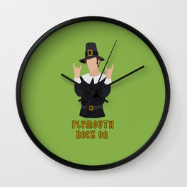 Plymouth Rock On Wall Clock