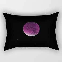 Fuchsia Shadow Moon Rectangular Pillow