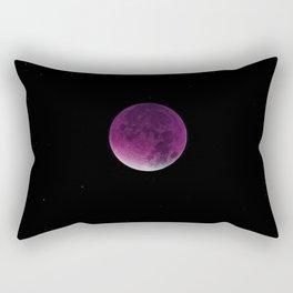 Fuchsia Shadow Moon Rectangular Pillow
