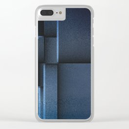 Rhythm of Rectangles and Blues Clear iPhone Case