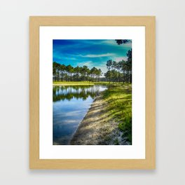 Lakeside View - Colorful Framed Art Print