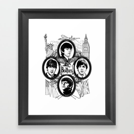 British Invasion Framed Art Print
