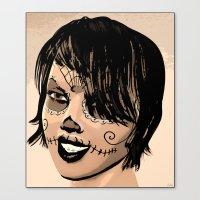 sugar skull Canvas Prints featuring Sugar Skull by Texnotropio