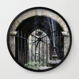 Cloister Fountain Wall Clock