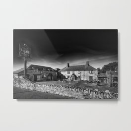 Jamaica Inn Black and White Metal Print