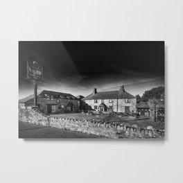 Jamaica Inn Black and White Metal Print