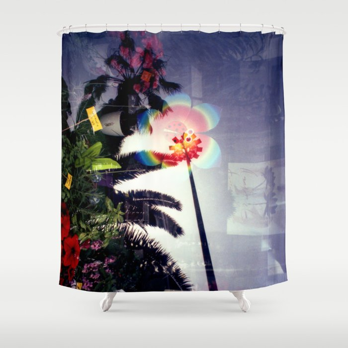 Urban double exposure Shower Curtain