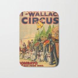 Vintage Circus poster Bath Mat