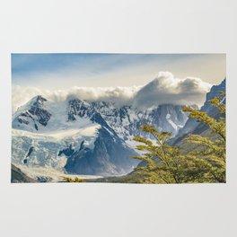 Snowy Andes Mountains, El Chalten Argentina Rug