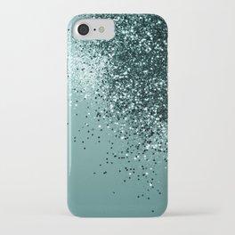Teal Mermaid Ocean Glitter #1 #shiny #decor #art #society6 iPhone Case
