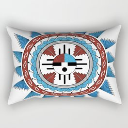 Southwest Native American Art Mandala Rectangular Pillow