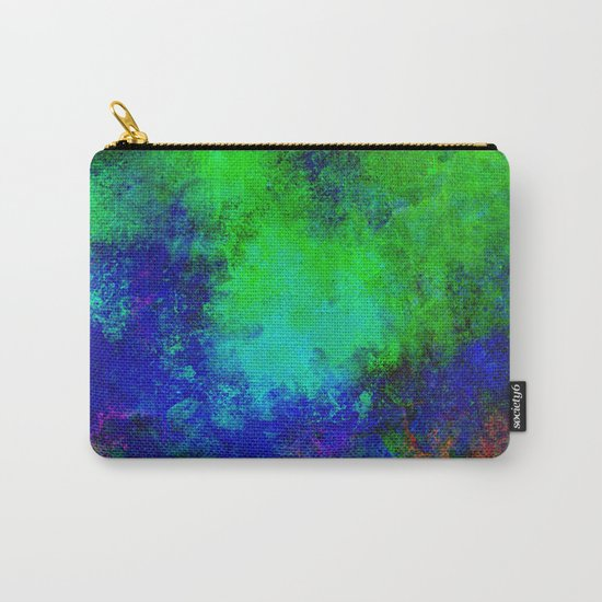 Awaken - Blue, green, abstract, textured painting Carry-All Pouch