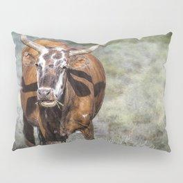 Pretty Female Cow with Horns Pillow Sham