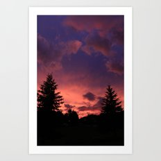 Sky On Fire Art Print