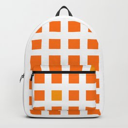 Cute squares pattern in orange and saffron Backpack