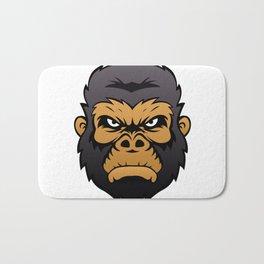 Gorilla Head Cartoon. Bath Mat