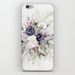 Purple Bouquet iPhone Skin