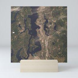 Pudget Sound, Seattle & Tacoma Mini Art Print