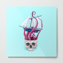 RELEASE THE KRAKEN Metal Print
