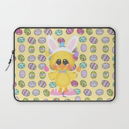 Easter Chick with Bunny Ears Laptop Sleeve