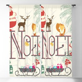 Christmas Noel Blackout Curtain