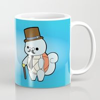 squirtle Mugs featuring Classy Squirtle by tshirtsz