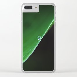 one drop on green Clear iPhone Case