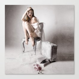 The white bird Canvas Print