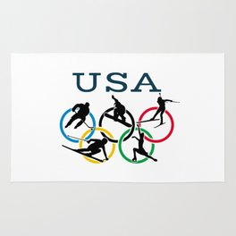 Winter Olympics Rug