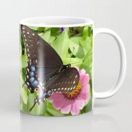 Butterfly on Pink Zinnia 2 Coffee Mug