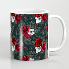 Christmas Watercolor Floral Pattern Coffee Mug
