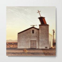 Forgotten Church Route 66 Metal Print