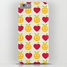 Apple and Orange - Love and Peace iPhone 6s Plus Slim Case