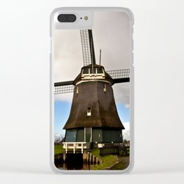Traditional Dutch Windmill Clear iPhone Case