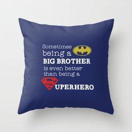 SUPERHERO BROTHER Throw Pillow