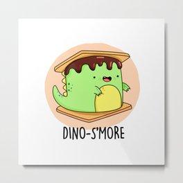 Dinosmore Cute Smore Dinosaur Pun Metal Print