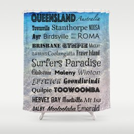 Queensland Poster Shower Curtain