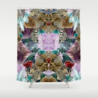 crystal Shower Curtains featuring Crystal by Joanna Tadger